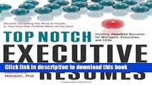 Ebook Top Notch Executive Resumes: Creating Flawless Resumes for Managers, Executives, and CEOs