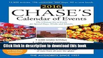 Ebook Chase s Calendar of Events 2016: The Ultimate Go-to Guide for Special Days, Weeks and Months