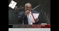 A maioria dos deputados Brasileiros são analfabetos: Pedro Ivo Ferreira  não conseguiu ler o termo de  tomada de posse