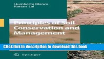 Books Principles of Soil Conservation and Management Free Download
