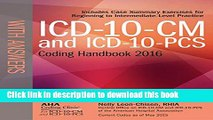 Ebook ICD-10-CM and ICD-10-PCS Coding Handbook, with Answers, 2016 Rev. Ed. Full Online