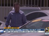 Let Joe Know: Avoiding car-buying scams