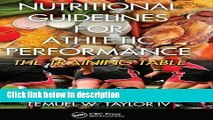 Books Nutritional Guidelines for Athletic Performance: The Training Table Full Online