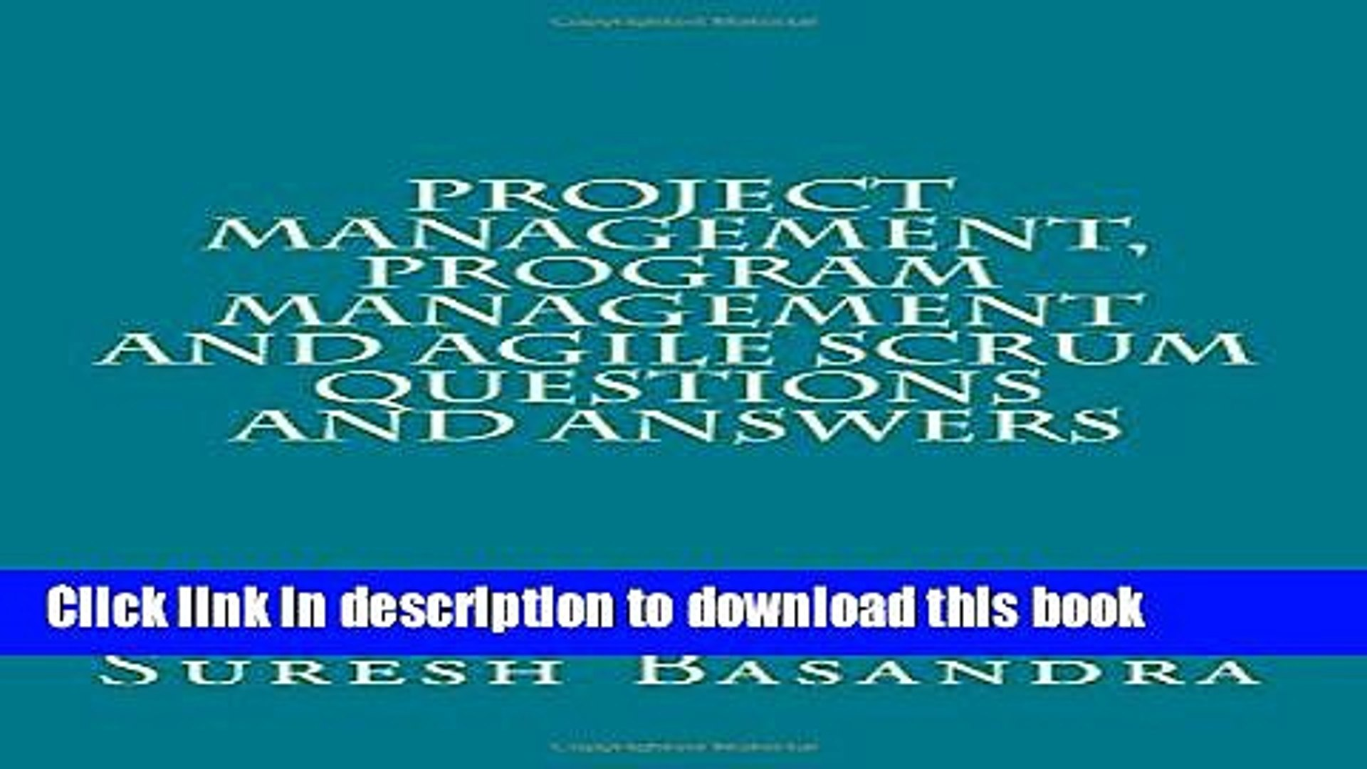 Ebook Project Management, Program Management and Agile Scrum Questions and Answers Free Download