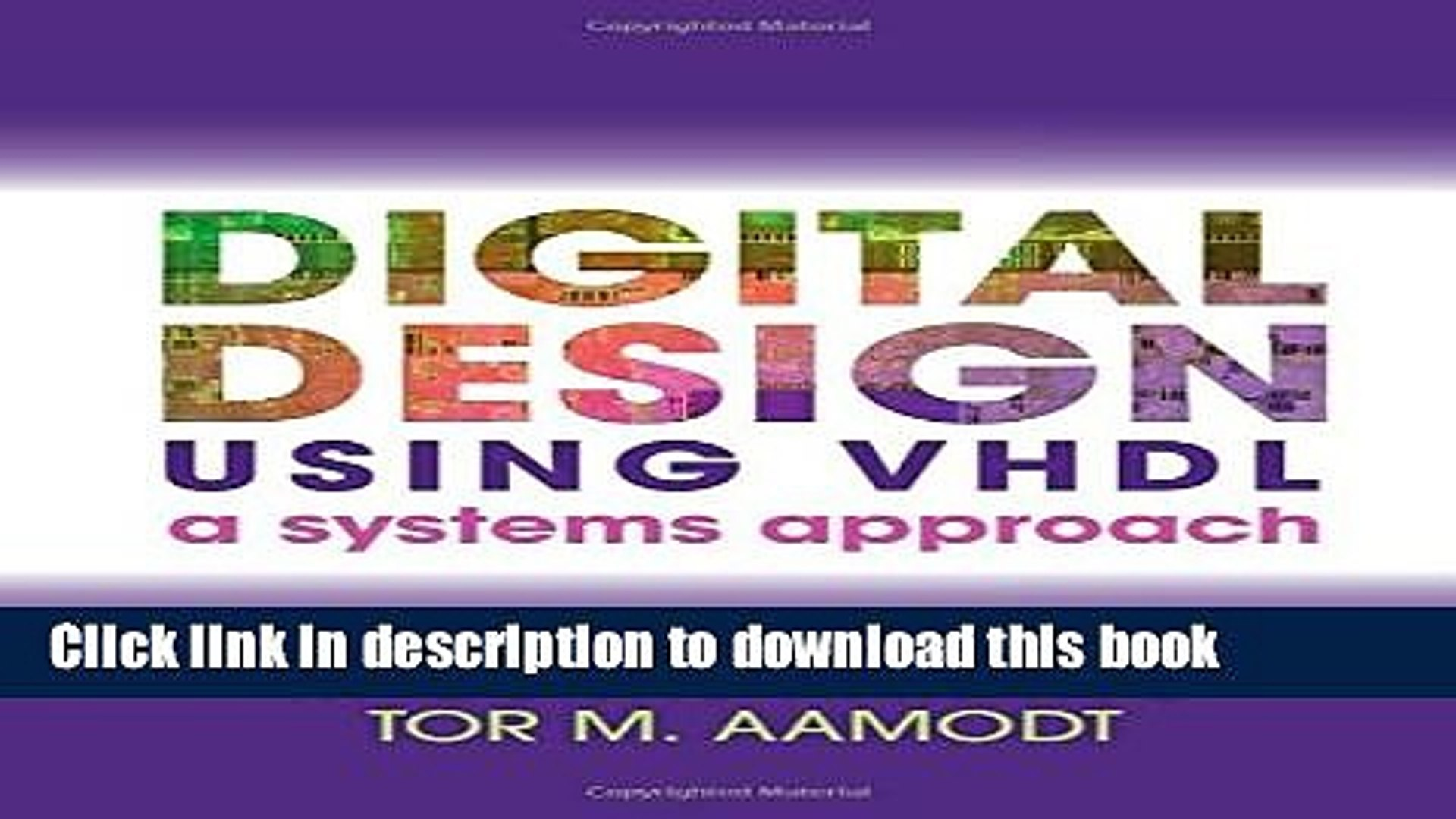 Books Digital Design Using Vhdl A Systems Approach Free Download Video Dailymotion