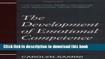 Books The Development of Emotional Competence (Guilford Series on Social and Emotional