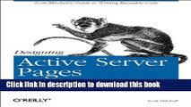 Books Designing Active Server Pages: Scott Mitchell s Guide to Writing Reusable Code Free Online