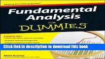 Ebook Fundamental Analysis For Dummies Free Download