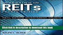 Books Investing in REITs: Real Estate Investment Trusts (Bloomberg) Free Download