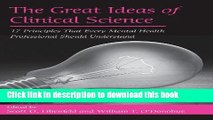 Books The Great Ideas of Clinical Science: 17 Principles that Every Mental Health Professional