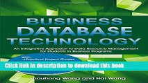 Ebook Business Database Technology: An Integrative Approach to Data Resource Management with