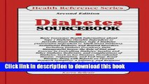 Books Diabetes Sourcebook: Basic Consumer Health Information About Type 1 Diabetes