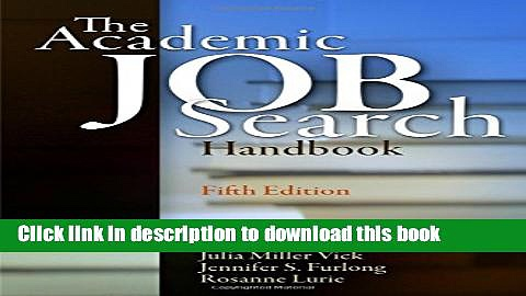 Books The Academic Job Search Handbook Free Online