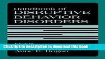 Books Handbook of Disruptive Behavior Disorders Free Online