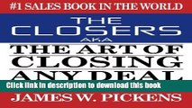 Books THE CLOSERS aka THE ART OF CLOSING ANY DEAL Free Download