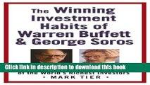 Books The Winning Investment Habits of Warren Buffett   George Soros Full Online