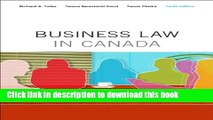 Books Business Law in Canada, Tenth Canadian Edition Plus MyBusLawLab with Pearson eText -- Access