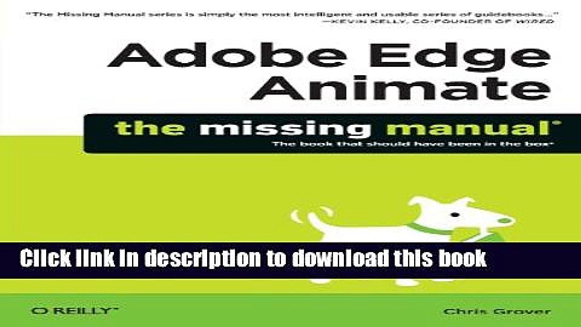 The Missing Manual Adobe Edge Animate