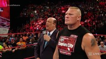 wwe raw Randy Orton invades Raw to attack Brock Lesnar- Raw, Aug. 1, 2016