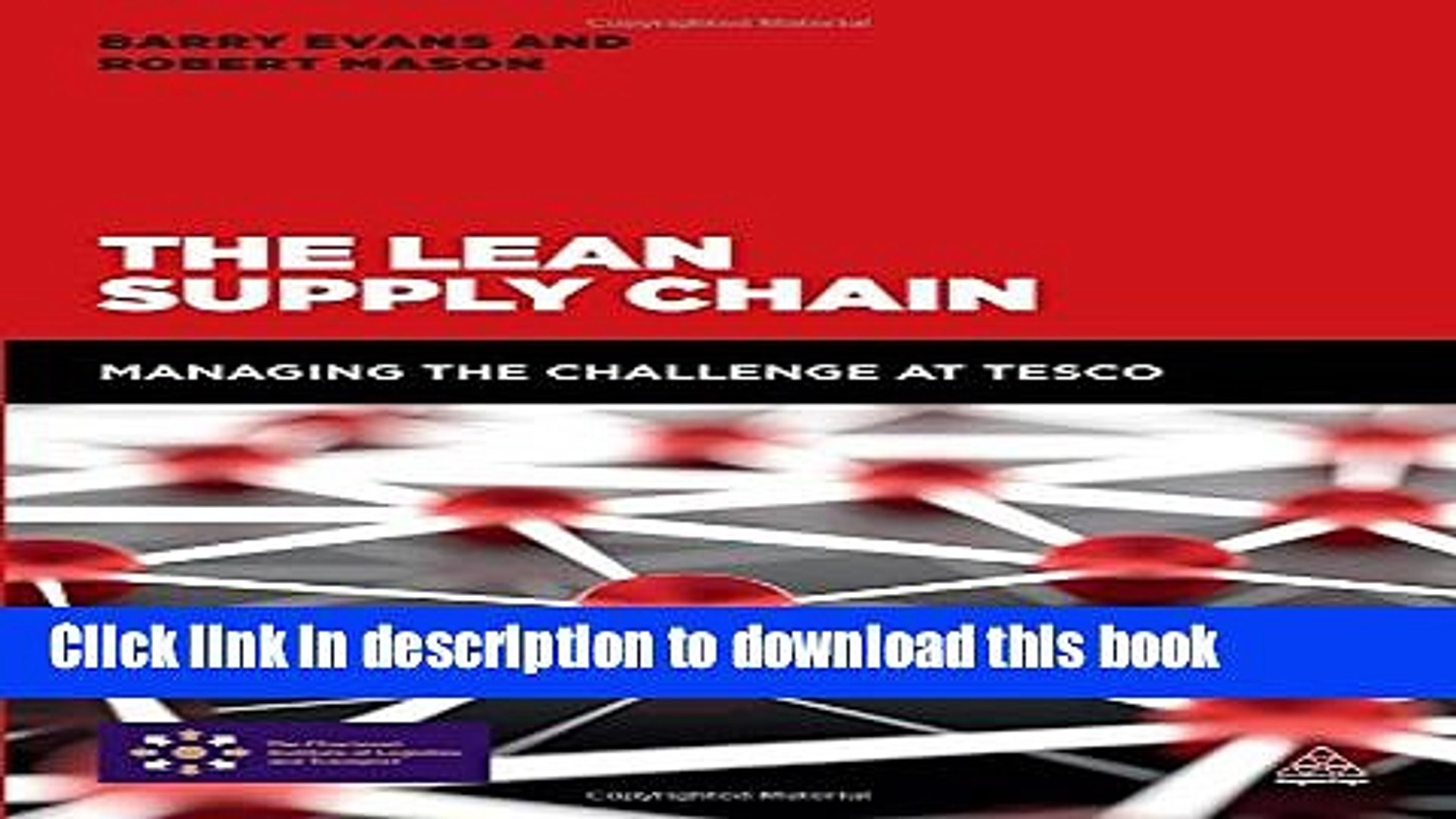 [Read PDF] The Lean Supply Chain: Managing the Challenge at Tesco Ebook Free