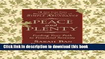 Ebook Peace and Plenty: Finding Your Path to Financial Serenity Full Online