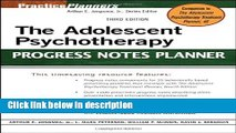 Ebook The Adolescent Psychotherapy Progress Notes Planner Free Online