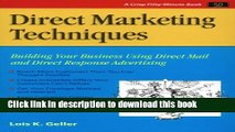 Books Direct Marketing Techniques: Building Your Business Using Direct Mail and Direct Response