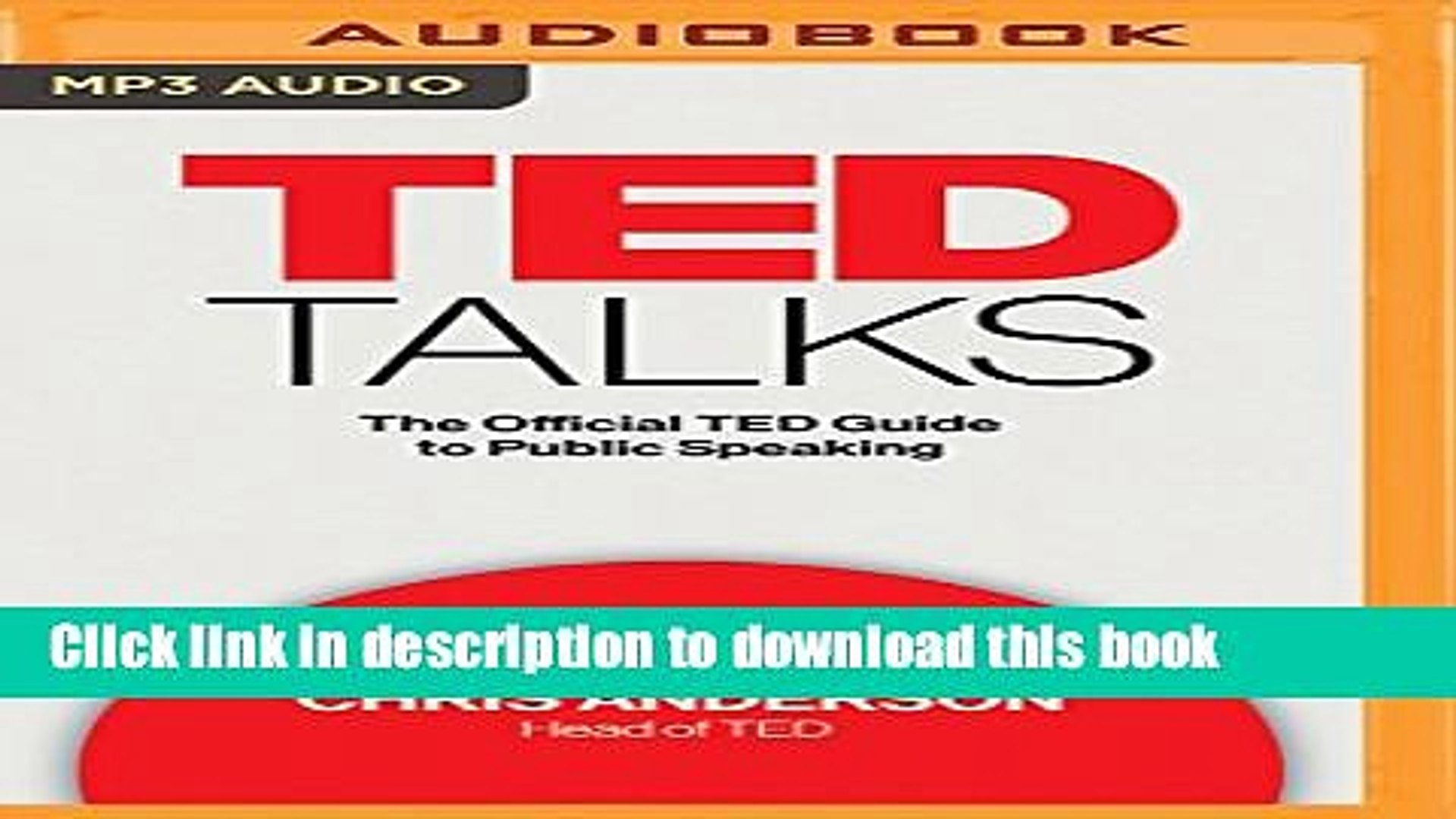 Ebook TED Talks: The Official TED Guide to Public Speaking Free Download
