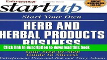 Ebook Start Your Own Herb and Herbal Products Business (Start Your Own Herb   Herbal Products