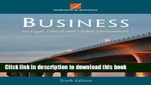 Ebook Business: Its Legal, Ethical, and Global Environment Free Online