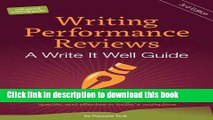 Books Writing Performance Reviews: A Write It Well Guide (The Write It Well Series of Books on