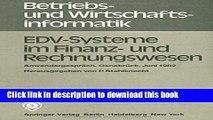 Ebook EDV-Systeme im Finanz- und Rechnungswesen: Anwendergespräch Osnabrück, 8. - 9. Juni 1982
