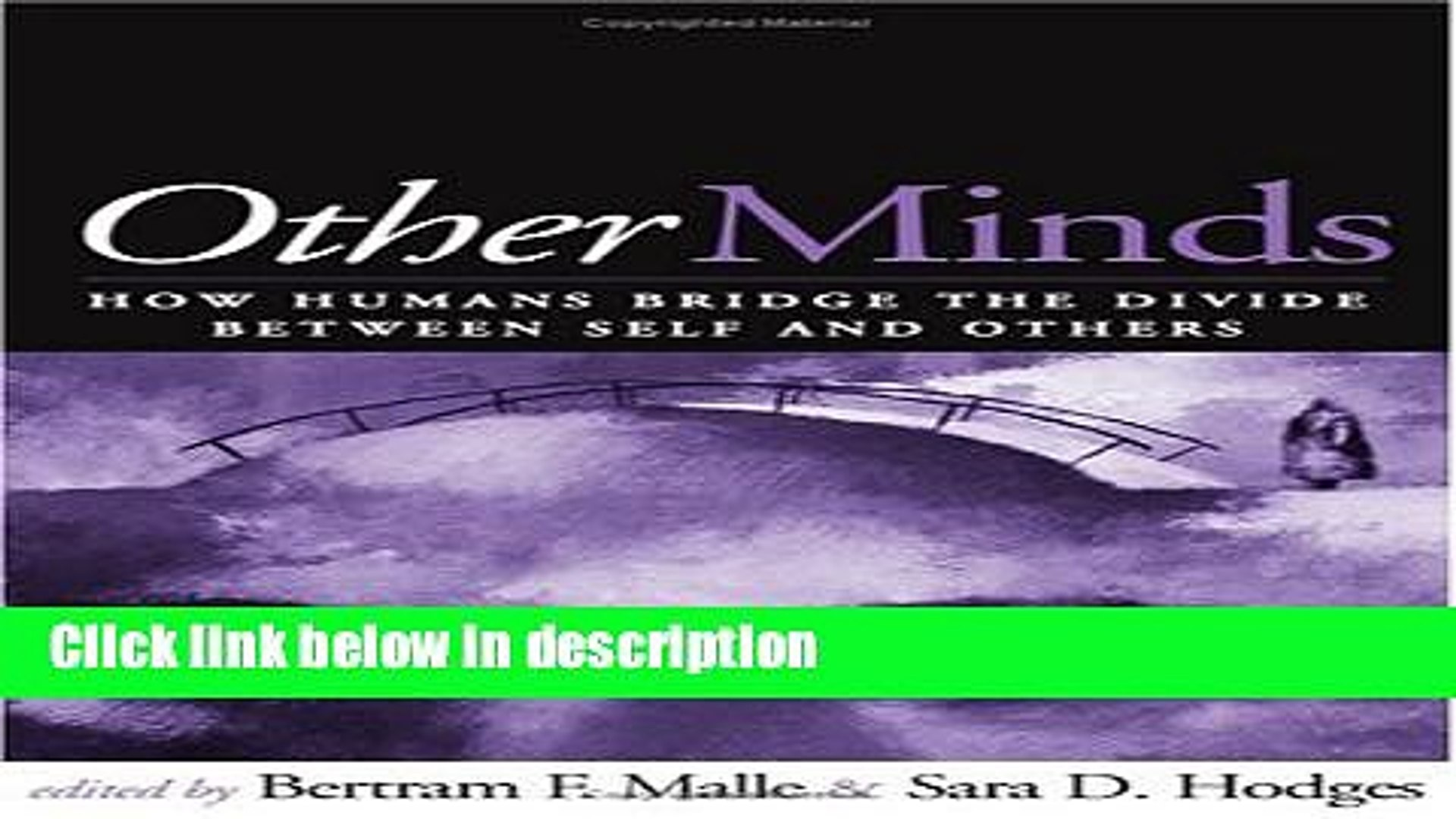 Books Other Minds: How Humans Bridge the Divide between Self and Others Full Online