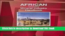 Ebook African Countries Mineral Industry Handbook Volume 1 Strategic Information and Regulations