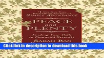 Books Peace and Plenty: Finding Your Path to Financial Serenity Full Online