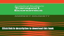 Books Analytical Studies in Transport Economics Full Online