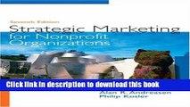 Books Strategic Marketing for Non-Profit Organizations (7th Edition) Free Online
