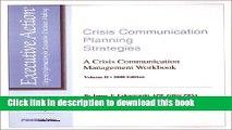 Ebook Crisis Communication Planning Strategies : A Crisis Communication Management Workbook