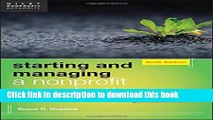 Books Starting and Managing a Nonprofit Organization: A Legal Guide Free Online