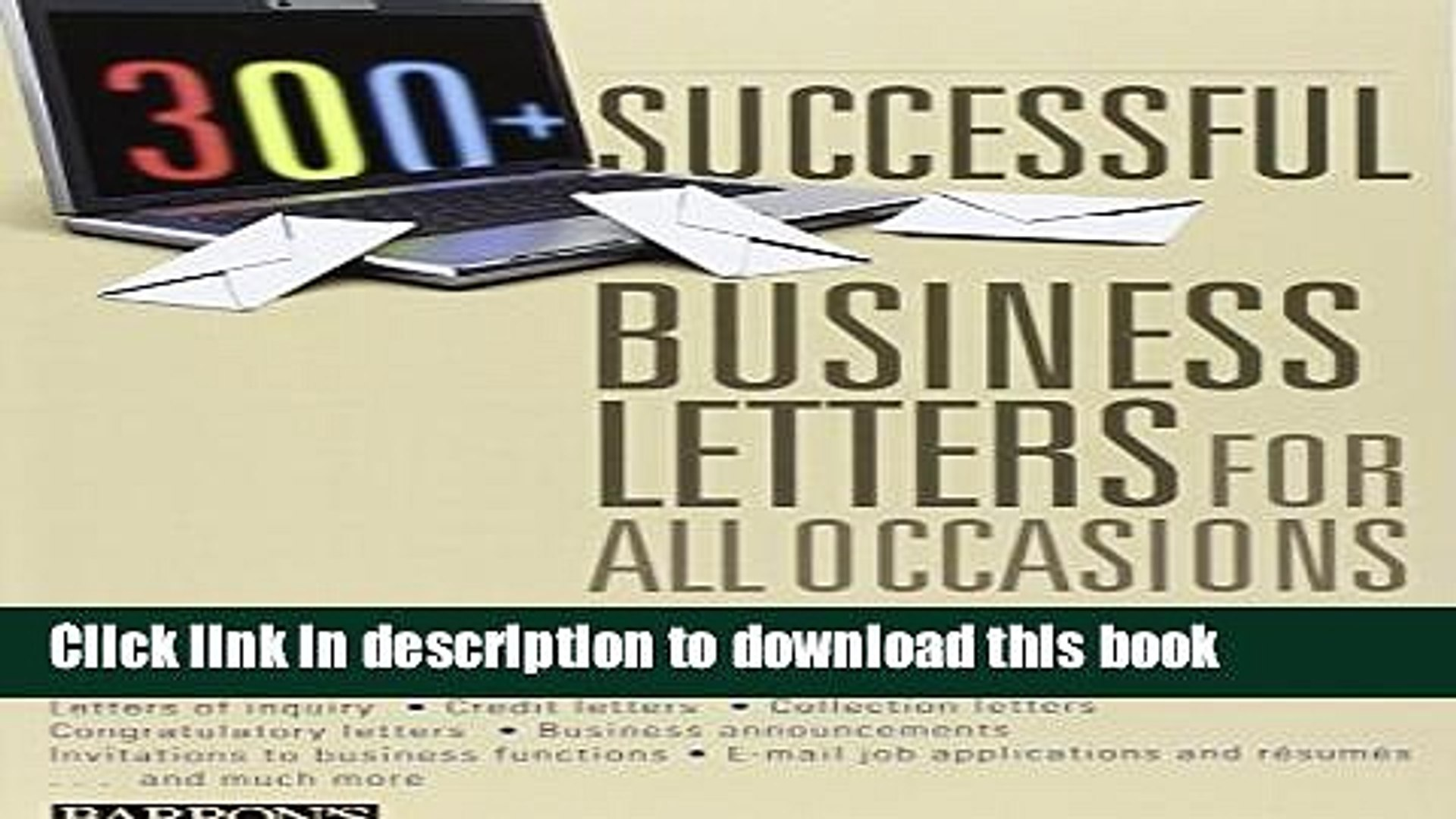 300 Successful Business Letters for All Occasions