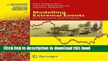 Ebook Modelling Extremal Events: for Insurance and Finance Free Online