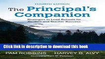 Books The Principal s Companion: Strategies to Lead Schools for Student and Teacher Success Free