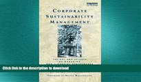 FAVORIT BOOK Corporate Sustainability Management: The Art and Science of Managing Non-Financial