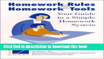 Books Homework Rules and Homework Tools Your Guide to  a Simple Homework System Free Online