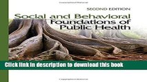 Books Social and Behavioral Foundations of Public Health Free Online