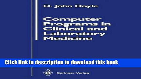 Ebook Computer Programs in Clinical and Laboratory Medicine Full Online
