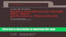 Download  Informationstechnik für den privaten Haushalt: Anwendungen und Infrastrukturen