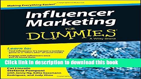 Books Influencer Marketing For Dummies Full Online