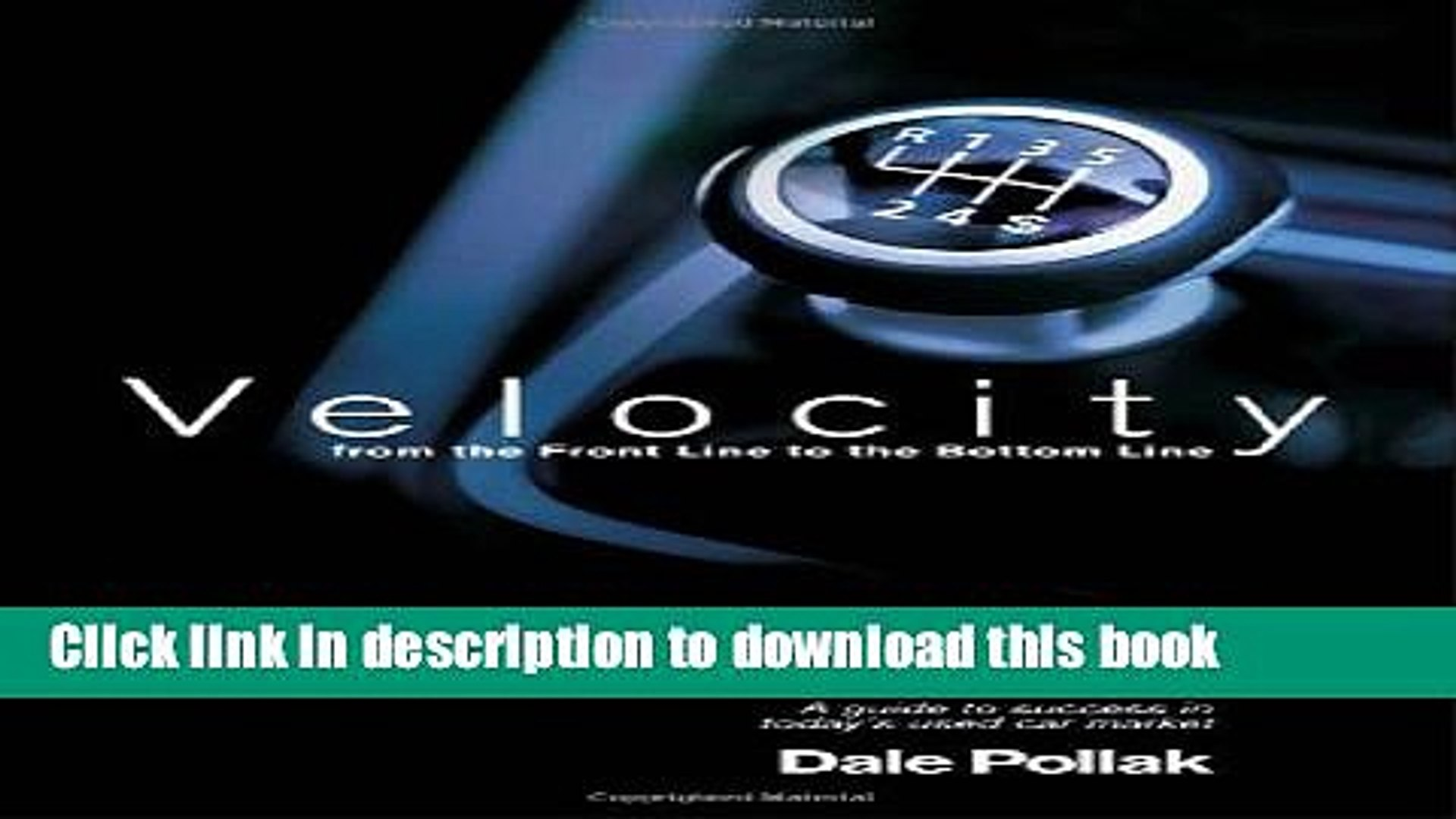 Books Velocity: From the Front Line to the Bottom Line Full Online