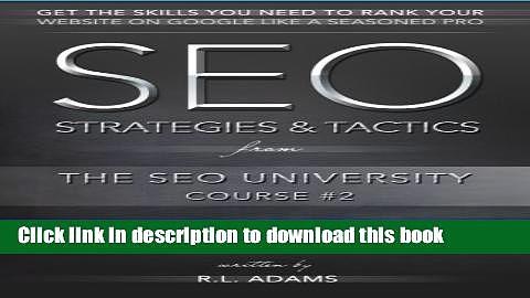 Books SEO Strategies   Tactics: Understanding Ranking Strategies for Search Engine Optimization